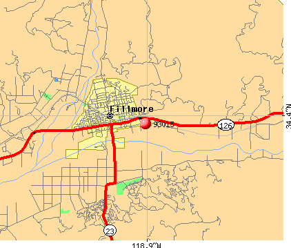 Fillmore, CA (93015) map
