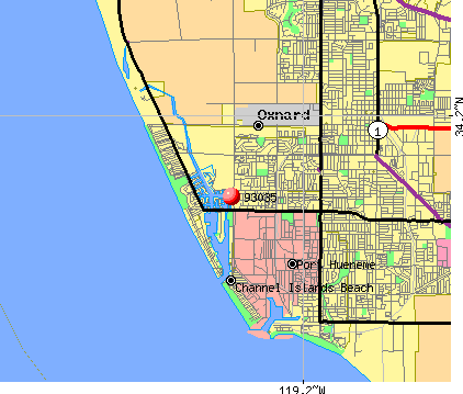 Oxnard, CA (93035) map