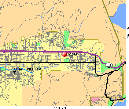 Simi Valley, CA (93063) map