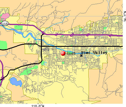 Simi Valley, CA (93065) map