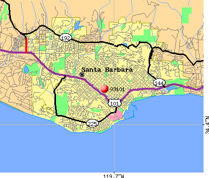 Santa Barbara, CA (93101) map