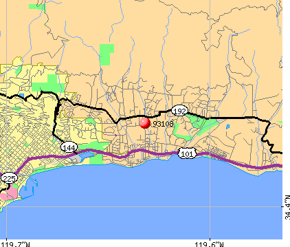 Montecito, CA (93108) map