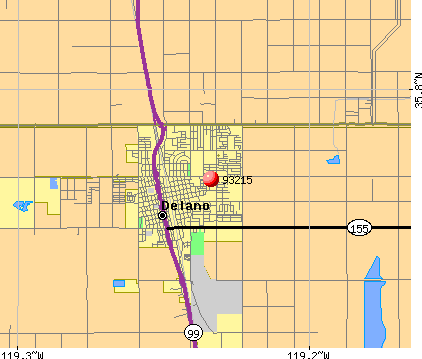 Delano, CA (93215) map