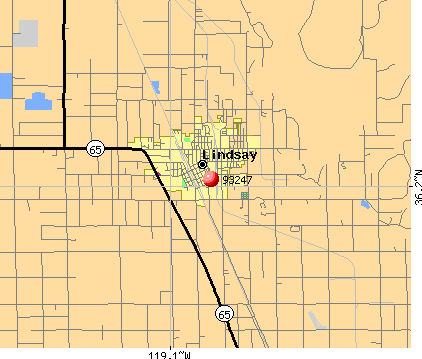 Lindsay, CA (93247) map