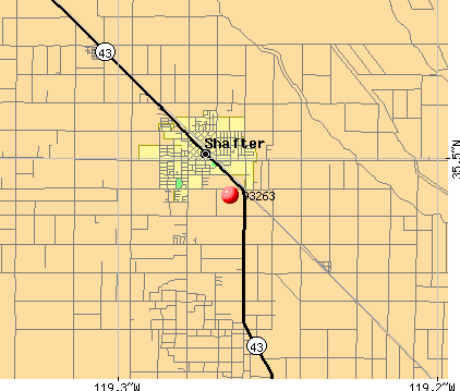 Shafter, CA (93263) map