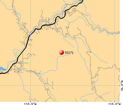 Three Rivers, CA (93271) map