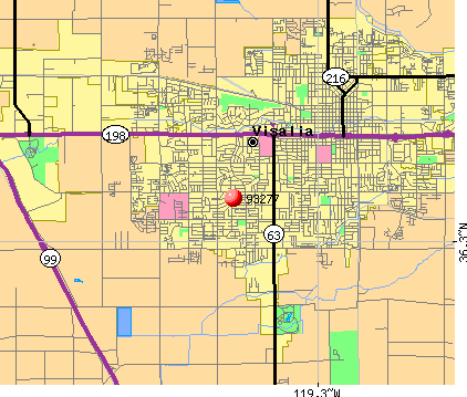 Visalia, CA (93277) map