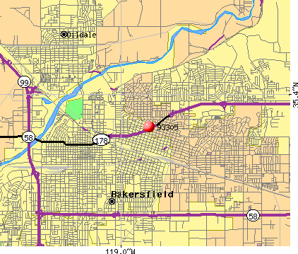 Bakersfield, CA (93305) map