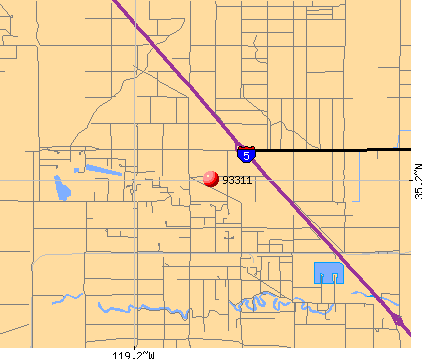 Bakersfield, CA (93311) map