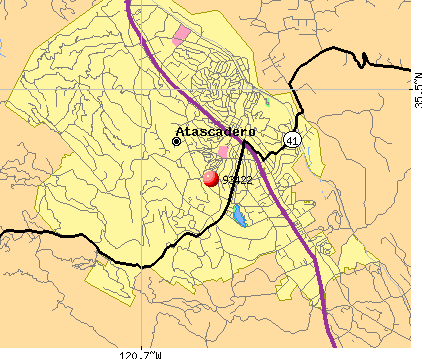 Atascadero, CA (93422) map