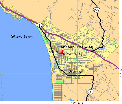 Grover Beach, CA (93433) map