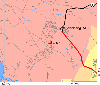 Vandenberg AFB, CA (93437) map