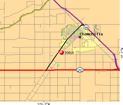 Chowchilla, CA (93610) map