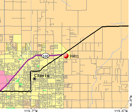 Clovis, CA (93611) map