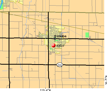 Dinuba, CA (93618) map