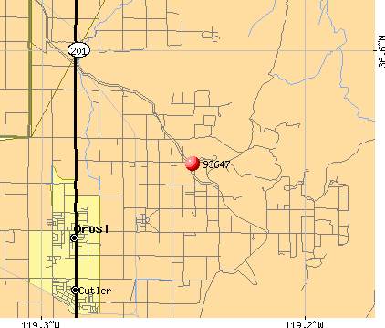 East Orosi, CA (93647) map