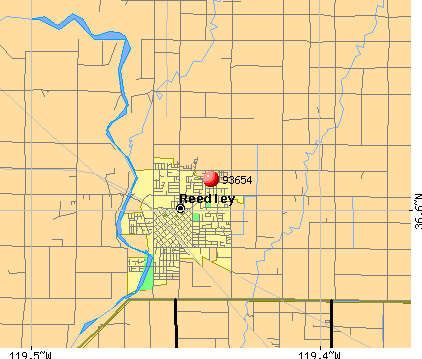 Reedley, CA (93654) map