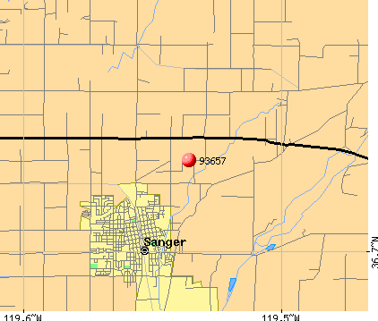 Sanger, CA (93657) map