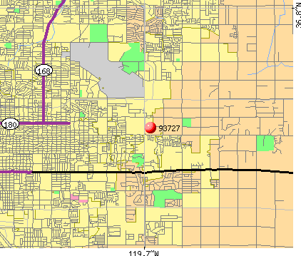 Fresno, CA (93727) map