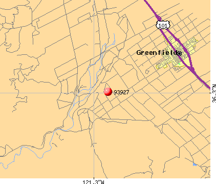 Greenfield, CA (93927) map