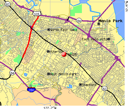 Menlo Park, CA (94025) map