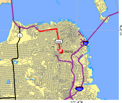 San Francisco, CA (94102) map