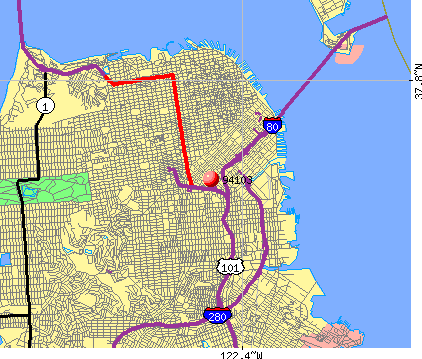 San Francisco, CA (94103) map