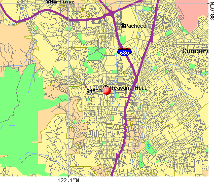 Pleasant Hill, CA (94523) map
