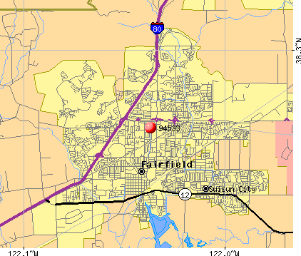 Fairfield, CA (94533) map