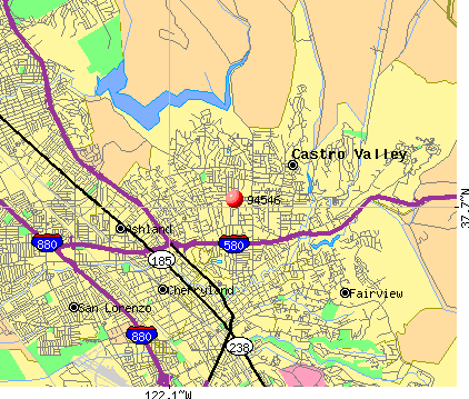 Castro Valley, CA (94546) map