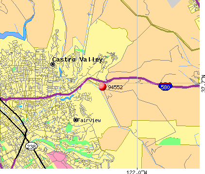 Castro Valley, CA (94552) map