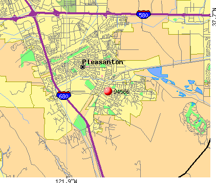 Pleasanton, CA (94566) map