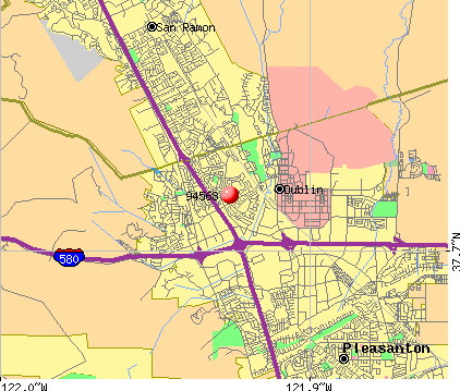 Dublin, CA (94568) map