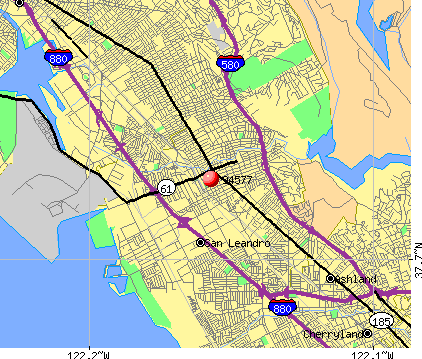 San Leandro, CA (94577) map