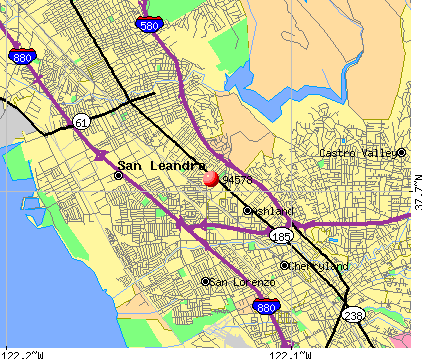 San Leandro, CA (94578) map