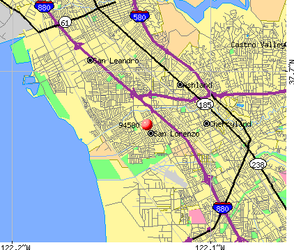 San Lorenzo, CA (94580) map