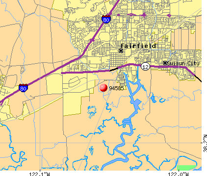 Fairfield, CA (94585) map
