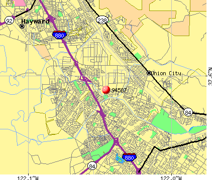 Union City, CA (94587) map