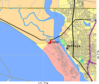 Vallejo, CA (94592) map