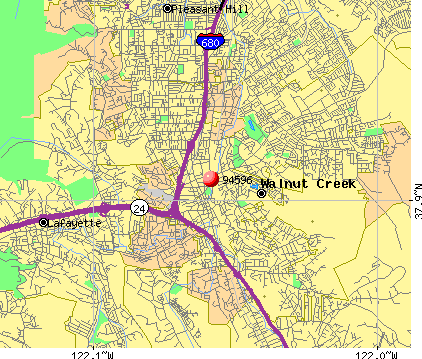 Walnut Creek, CA (94596) map