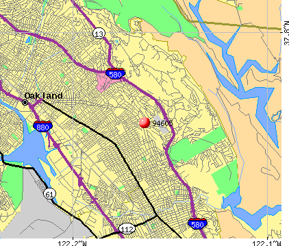 Oakland, CA (94605) map