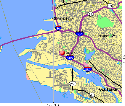 Oakland, CA (94607) map