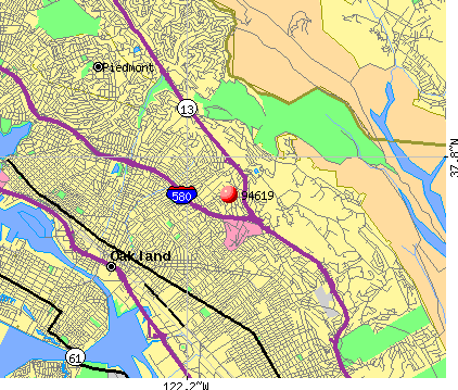 Oakland, CA (94619) map