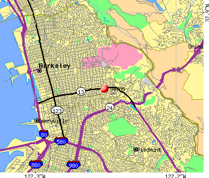 Oakland, CA (94705) map