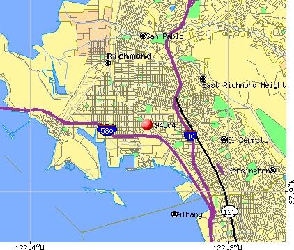 Richmond, CA (94804) map