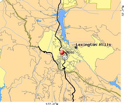 Lexington Hills, CA (95033) map