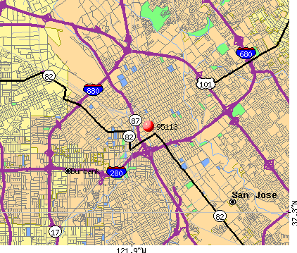 San Jose, CA (95113) map