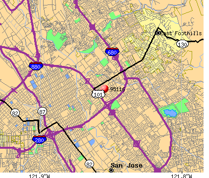 San Jose, CA (95116) map