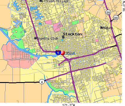 Stockton, CA (95203) map