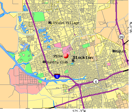 Stockton, CA (95204) map